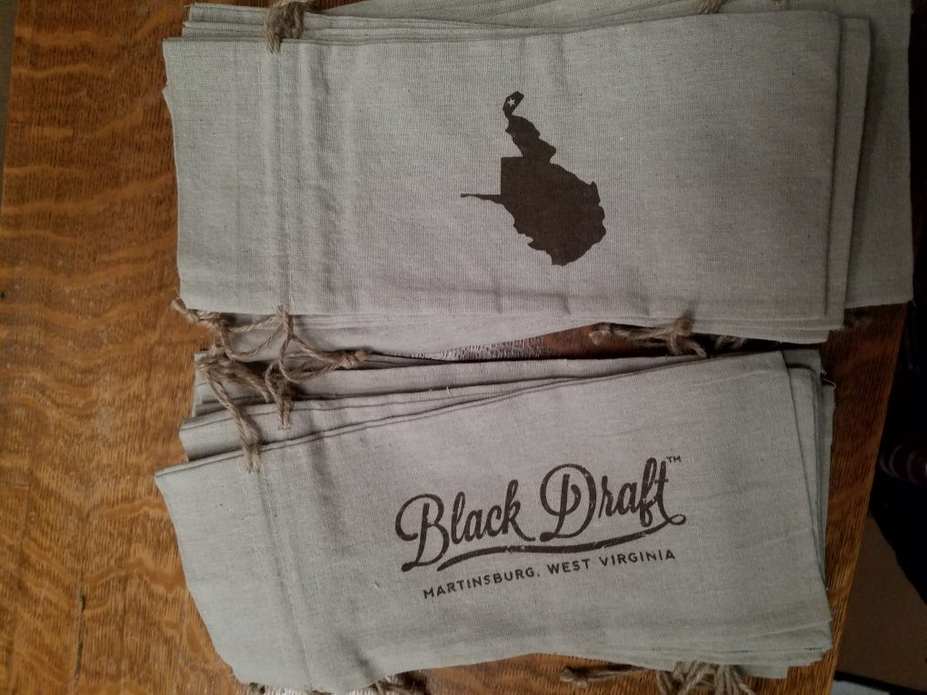 Black Draft canvas whiskey and bourbon bags